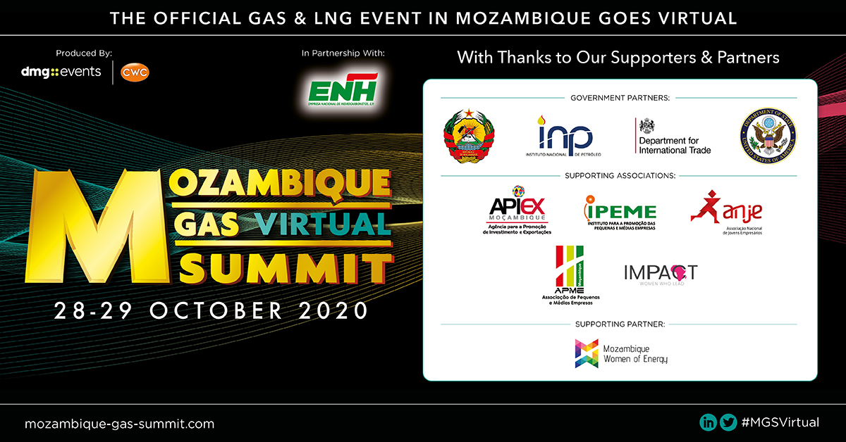 The #MGSVirtual in partnership with #ENH is proud to announce support from: #MozambiqueGovernment, #INP, #DIT,  #U.S.DepartmentOfState #APIEX #IPEME, #ANJE, #APME, #IMPACT & #MWE.  Join them next week for this unmissable online industry gathering:  https://t.co/ISaRgSagZZ https://t.co/QkVDVuGM0v