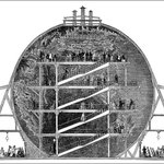 Image for the Tweet beginning: Wyld's Great Globe: A 1850s