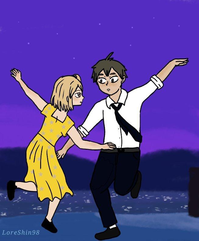 Fue lo primero que se me vino a la mente 🤭 Día 6: Dancing ✨ #YamaYachiWeek #Haikyuu #LaLaLand https://t.co/sLdS9NItea