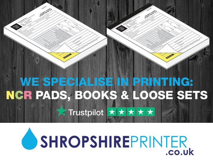 Does your business use NCR Pads? We specialise in printing premium quality #NCR #Pads, Books, Sets, Continuous Stationery & Register Sets to our customers in Shropshire & UK wide. Tel: 01743 369897 or visit: https://t.co/2JEEkhiVEF #Shropshire #Printer #Printing #UK #supportlocal https://t.co/dTHWUypmym