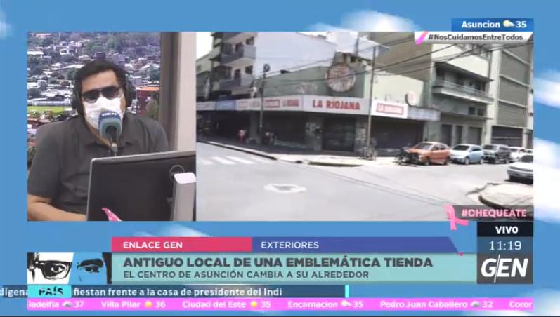 #2EnLaCiudad | Recorrido por el microcentro de Asunción.  @robertb_py nos muestra el estado en el se encuentra el antiguo local de La Riojana.  🖥️ https://t.co/fYMaekk5tL 📻 @Universo970py https://t.co/fzlNkf1oUw
