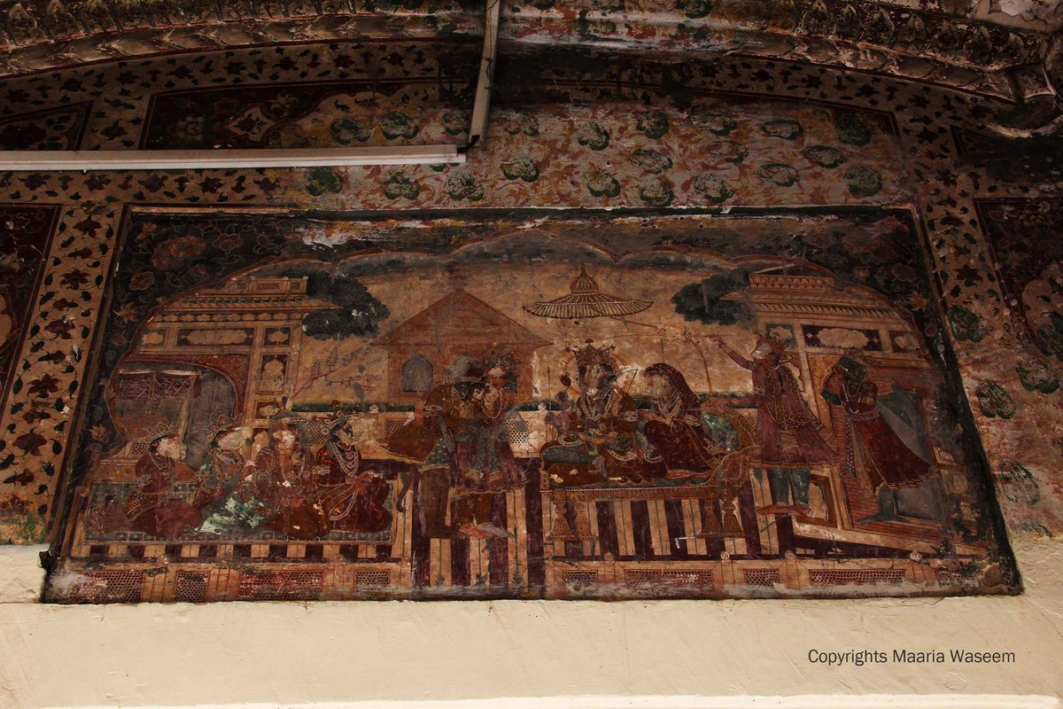 frescoes inside Gurdwara Dera Sahib #Lahore #Punjab #heritage  #PrePartition #SharedHeritage https://t.co/bCUlh2q0qW