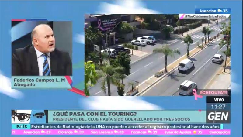 #2EnLaCiudad | ¿Qué pasa en el Touring?  🗣️Conversamos al respecto con el abogado Federico Campos López Moreira.  📺 𝗧𝗶𝗴𝗼 𝗧𝘃 12/612HD \ 𝗧𝗶𝗴𝗼 𝗗𝗧𝗛 432 \ 𝗣𝗲𝗿𝘀𝗼𝗻𝗮𝗹 12 \ 𝗖𝗹𝗮𝗿𝗼 16 \ 𝗖𝗼𝗽𝗮𝗰𝗼 8  🖥️ https://t.co/fYMaekk5tL 📻 @Universo970py https://t.co/HfR7zwuDCM