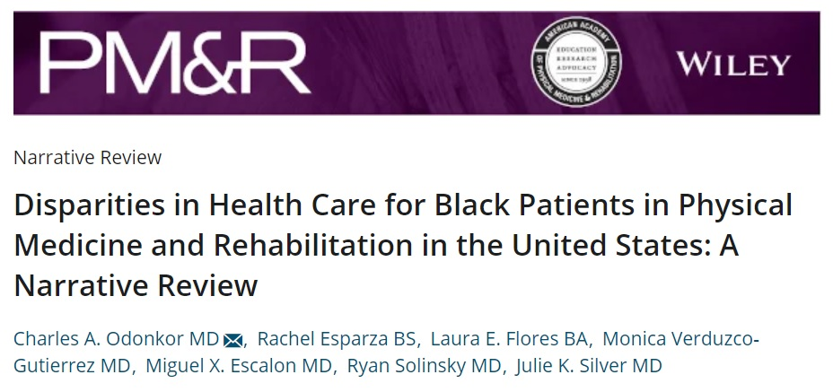 New narrative review @PMRJournal examines important issue of #HealthDisparities for black patients in PM&R. Critical to do the hard self reflection to create change and progress. https://t.co/dmj7NqJQYu #Physiatry https://t.co/o67RTUlLLR