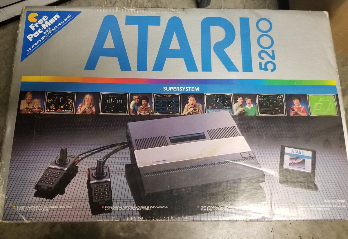 So, I have had this #Atari 5200 for almost 20 years. It was given to me by my uncle at Christmas in the early 2000's. Decided recently to finally hook it up. It was still in the original box in great condition. AND it still has the receipt of the purchase in 1983. #RetroGaming https://t.co/HxDk2gEPkh