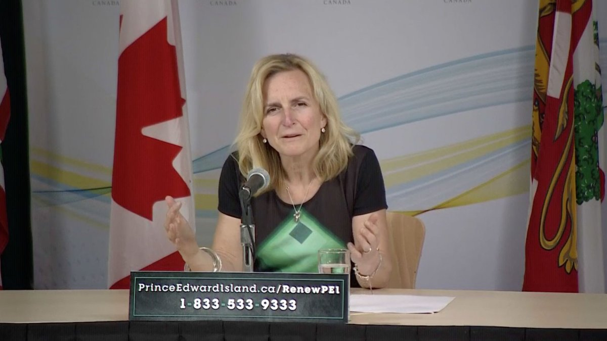 WATCH LIVE: P.E.I. Chief Public Health Officer Dr. Heather Morrison provides an update on COVID-19 in the province: https://t.co/7agN16fPyi https://t.co/IHknwTw0vg