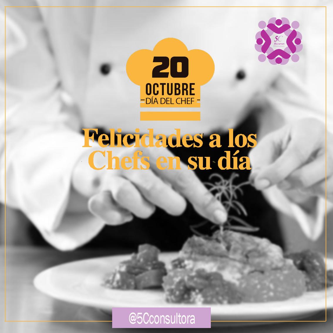 """¡Felíz Día Internacional del Chef! """"Una de las cosas que más aprendí de esta profesión, es que si no cocinas con #amor de nada sirve la técnica"""" Felicidades a todos los que comprendieron que el cocinar es una obra de arte, y las obras son demostraciones de amor #5C #DiadelChef https://t.co/phN2kNM6VN"""