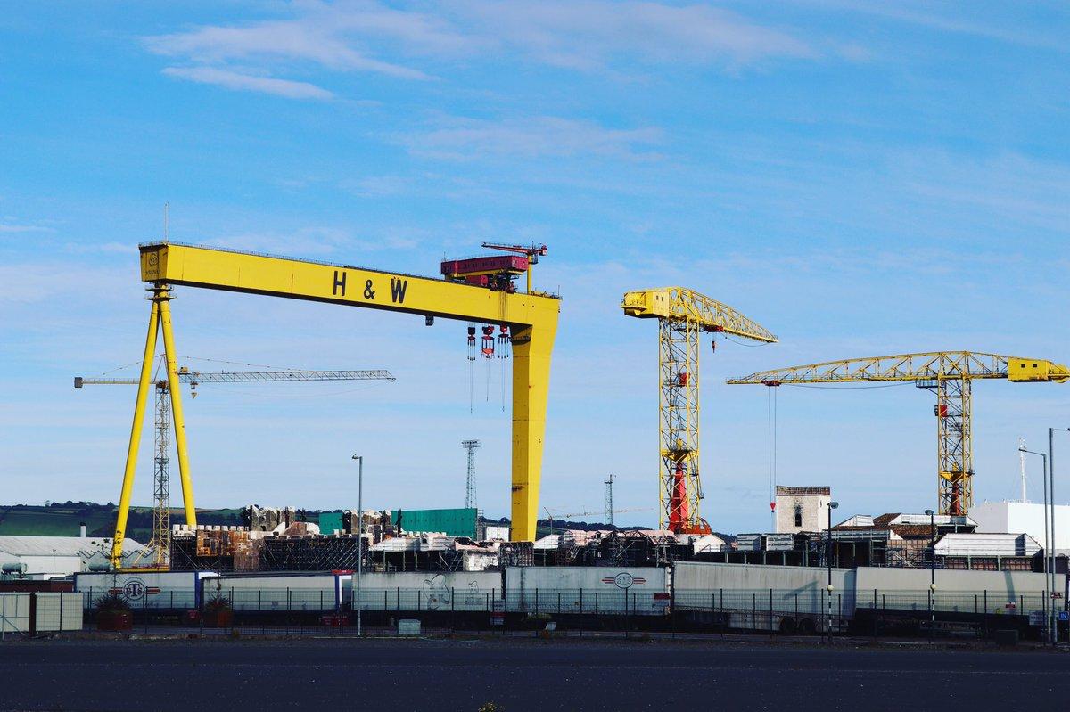 #northern #ireland #belfast #belfastireland #belfastcity #fly #film #r21 #r21productions #production #productions #thetitanic #titanicbelfast #titanic #ship #crane #cranes https://t.co/2dacws4am0