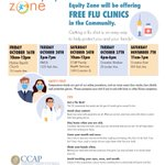 Image for the Tweet beginning: FREE FLU CLINIC TODAY -