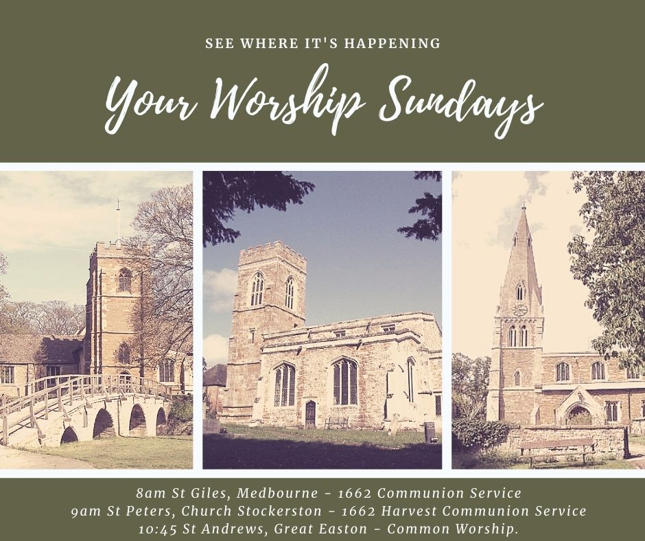 Three Sunday services to choose from this weekend 25th October. Hope to see you there! #SundayMorning #Worship #Sixsaintscircaholt #Wellandvalley #Leicestershire https://t.co/mRGCDYKOSG