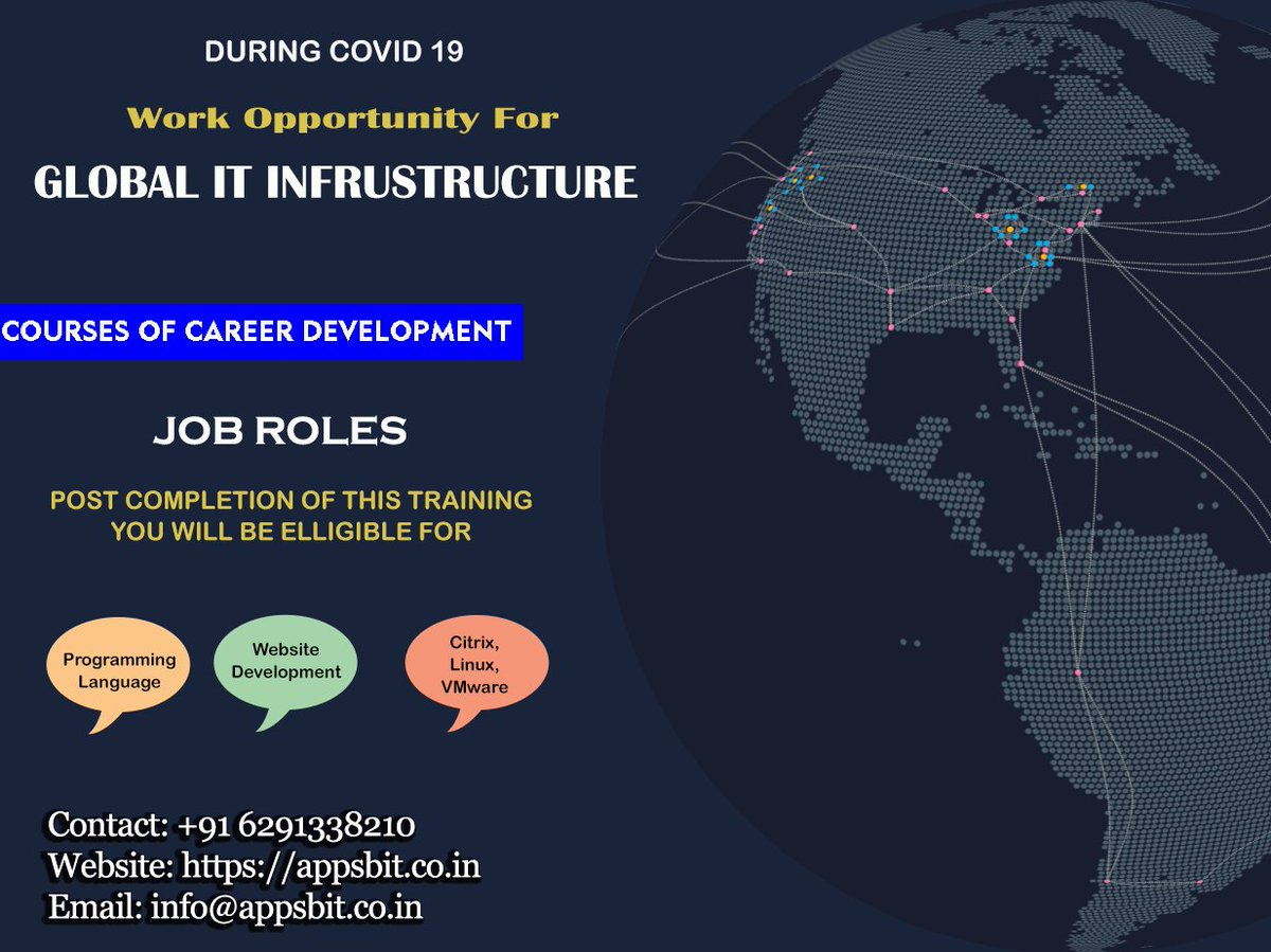 100% Job Guaranteed in this Pandemic Situation Enrol yourself in the best job oriented Global IT Infrastructure Training Contact: +91 6291338210 Website: https://t.co/h96zJ3vPKn  #vmware #virtualization #nsx #sdn #RHCE #ANSIBLE #DevOps #CKA #CKAD #Docker #Kubernetes #AWS #AZURE https://t.co/FWrWZdcQfY
