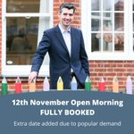 Our 12th November Open Day is now fully booked. Due to popular demand we have added an extra Open Day date on Thursday 19th November. Spaces are limited and strictly by appointment only. To register please visit https://t.co/aGQ2WN0ohO #openday #surreyprepschool #privateschool