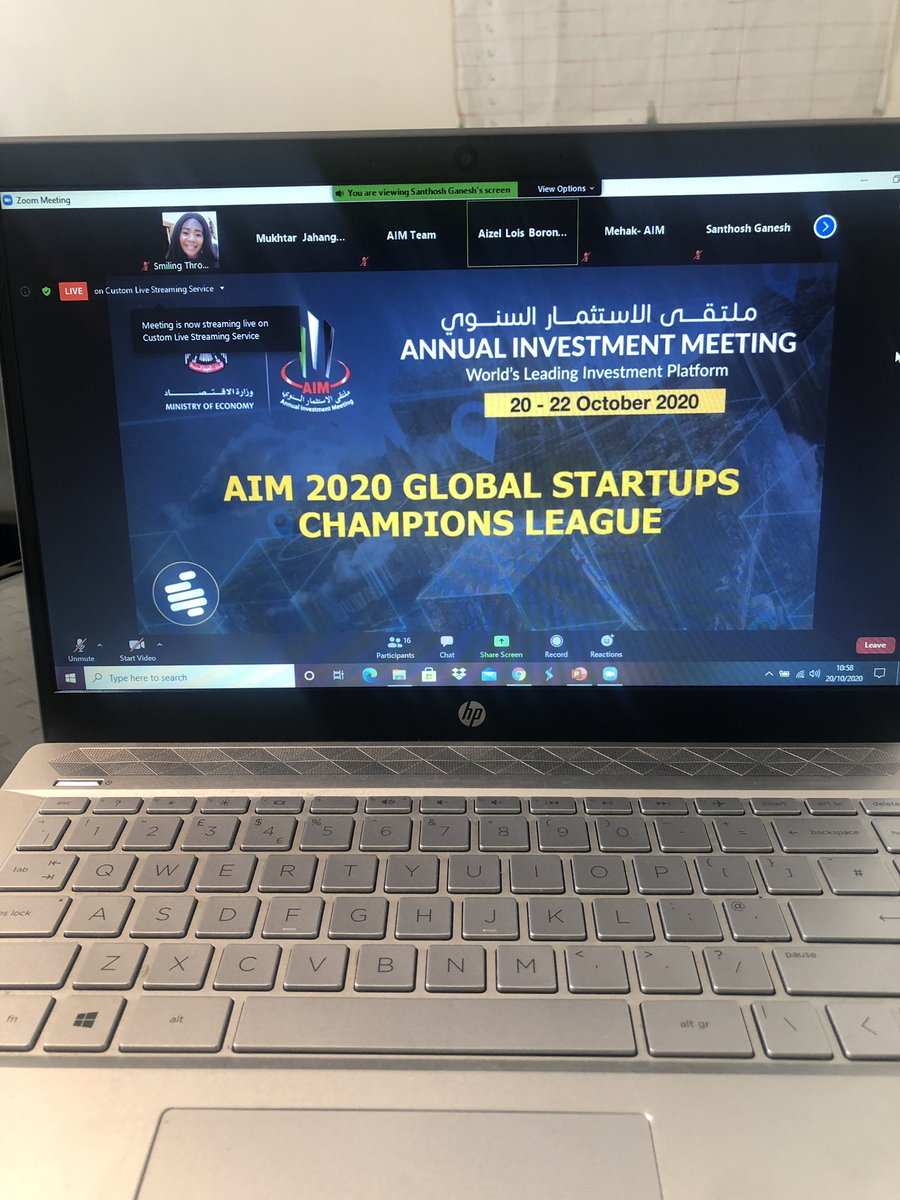 LIVE: @AIM_Congress Global #Startup Champions League. We are proud to be represent #SierraLeone over the next 3 days🌞🌞starting today🌞  #StartUp #AIMDigital #economy #investment #Championship https://t.co/8LBUPhOulb