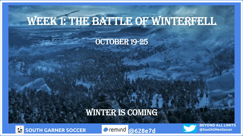 Day 2: Battle of Winterfell #winteriscoming #WIC #battleofwinterfell #SGMS https://t.co/8aw1V4cSz3