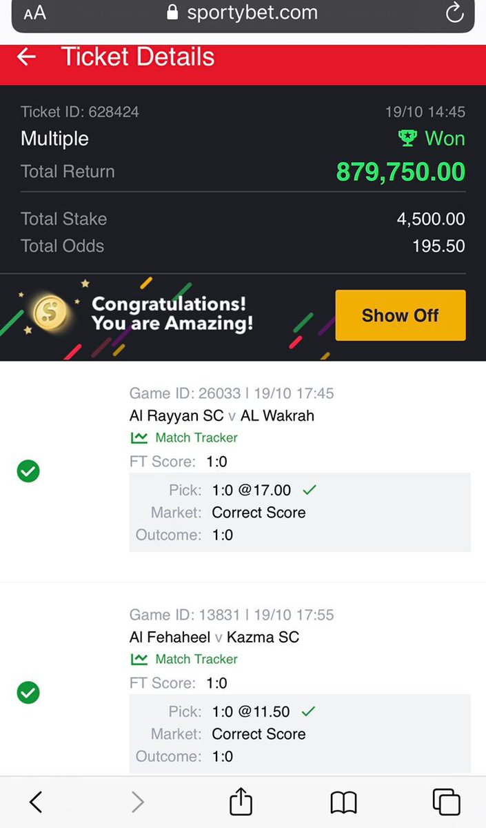 It's a miracle getting to know you exist @destinybetpro. Haven't come across any tipster as plain and direct like you Mr Paul. Thanks so much for this win yesterday. #TuesdayMotivation #TheDude #Sending #Snapchat #Tinubu #MashujaaDay #Baba #William #Nation #MauMau #Bolt #Lagos https://t.co/t18TGhvMV1