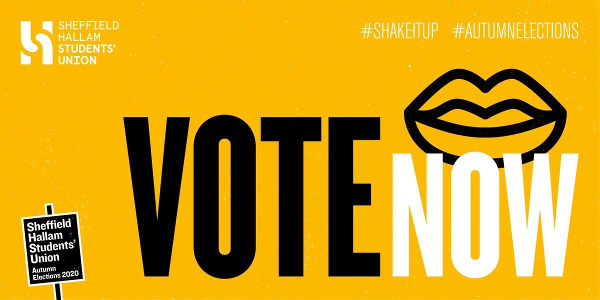 Voting is now open! Vote for the students who will fight for the university experienceyouwant. It's never been more important to make your voice heard. Your union is in your hands.   SPEAK UP! 📣 Vote now! 👉 https://t.co/9Ttxg9rKms  #ShakeItUp #AutumnElections2020 #VoteEarly https://t.co/3hsLSMIl6r