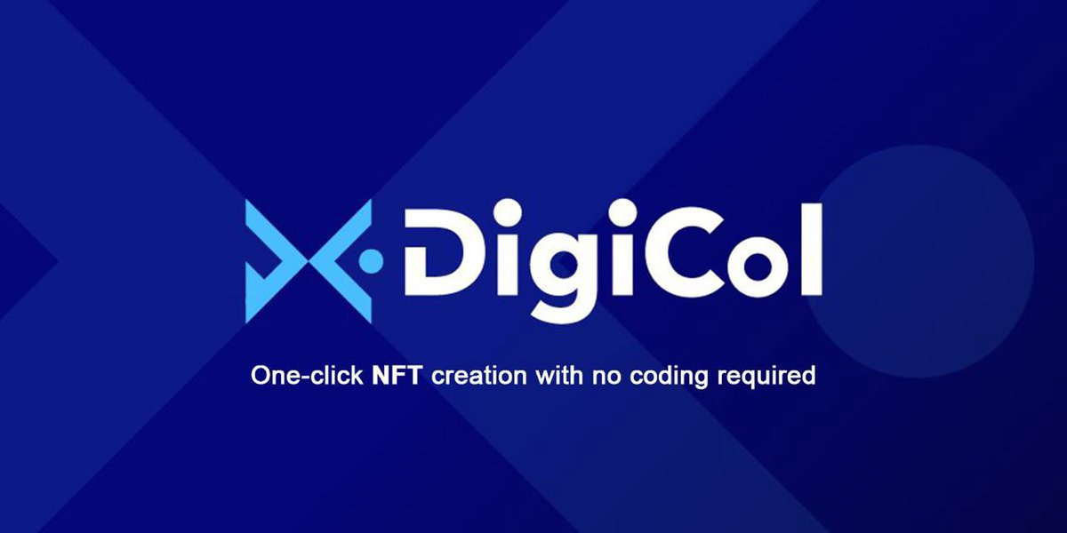 1/ DigiCol THREAD  $DGCL -  @DigiColofficial NFT is starting to increase in the rate of adoption so I want you to show which project might be very interesting for you.''One-click NFT creation with no coding required''