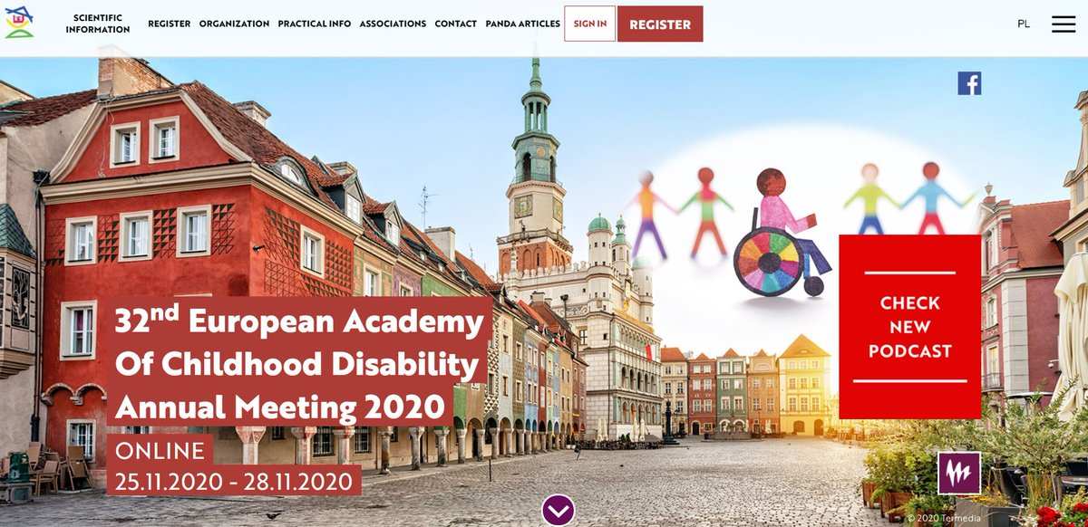 Still time to register for this years virtual conference for the European Academy of Childhood Disability - taking place 25th-28th Nov. #EACD2020