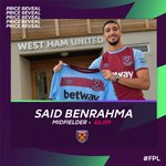 Image for the Tweet beginning: 🚨Said Benrahma Thread🚨  With @OfficialFPL announcing