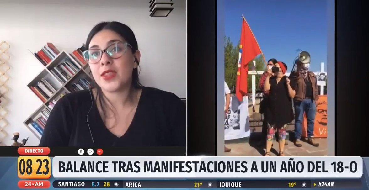 """Diputada Cariola: """"Hay que hacer la distinción del vandalismo, de la violencia policial contra los manifestantes y también de los manifestantes que se manifiestan dé manera pacífica"""".  📡 Sigue la señal en vivo #24Play ➡ https://t.co/mi3yDUstrf https://t.co/tQML8CxxnI"""