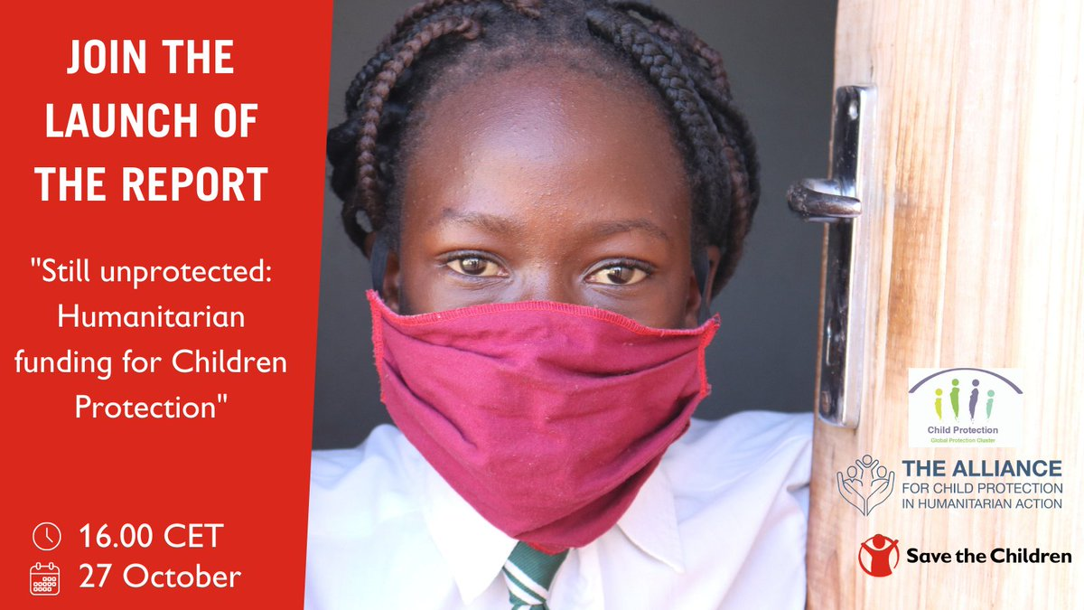 Along with @CPiE_Global @CP_AoR and @Refugees we have found that #ChildProtection is neglected and underfunded. Why, and what can we do about it? Join the launch and find out more! Together we can and must do MORE, we can and must do BETTER. checkin.no/event/26546/we…