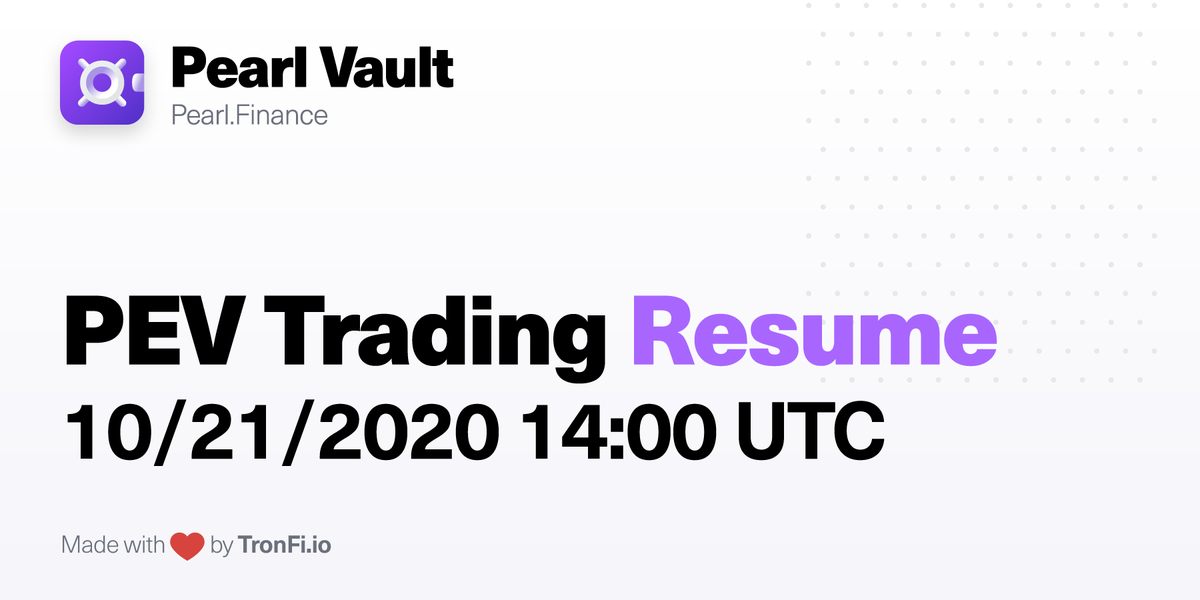 #PEV Trading will be Resumed on 10/21/2020 at 14:00 UTC Stay tuned for announcements: t.me/tronfiNews