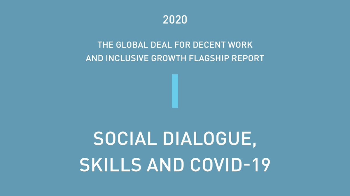 """🔊REPORT LAUNCH!   Take a look at the new Global Deal flagship report """"Social Dialogue, Skills and COVID-19""""!    🚩Download the report here: https://t.co/659GULHxS5 https://t.co/7JHkr0G8Jo"""
