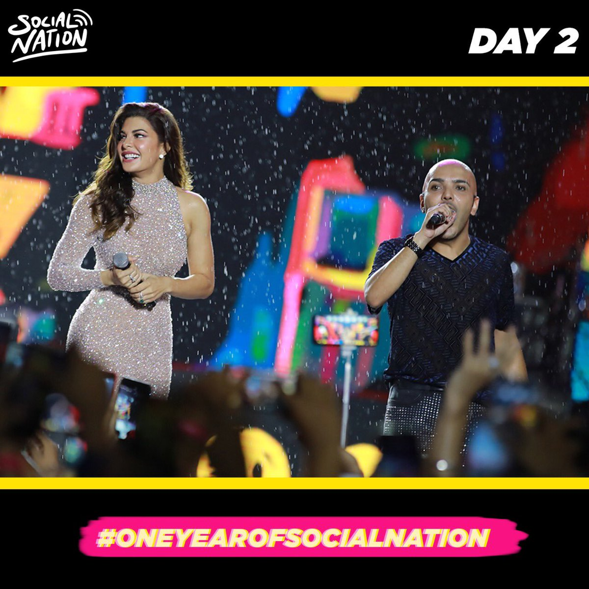 Let's just take a moment and relive this day again✨💛  We don't know about you but we definitely are missing this day and you guys🥺 @shaanmuofficial @Asli_Jacqueline @CarryMinati @jasleenroyal #DhanashreeVerma   #oneyearofsocialnation #whereibelong #socialnation