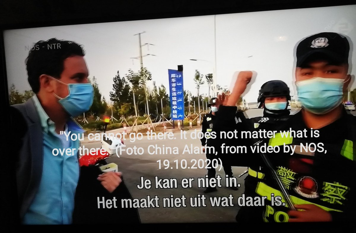 """#DutchDocumentary about #EastTurkestan  #SjourdDenDaas in #Xinjiang looking for #camps  Fotos (60+) of video #NOS, English text  Filming allowed but message is """"fu.. up!""""  Foto of new #factory built next to #camp  Interesting remarks by people filmed...   https://t.co/1KoMalR7Sj https://t.co/Ji29Uhs3Bi"""
