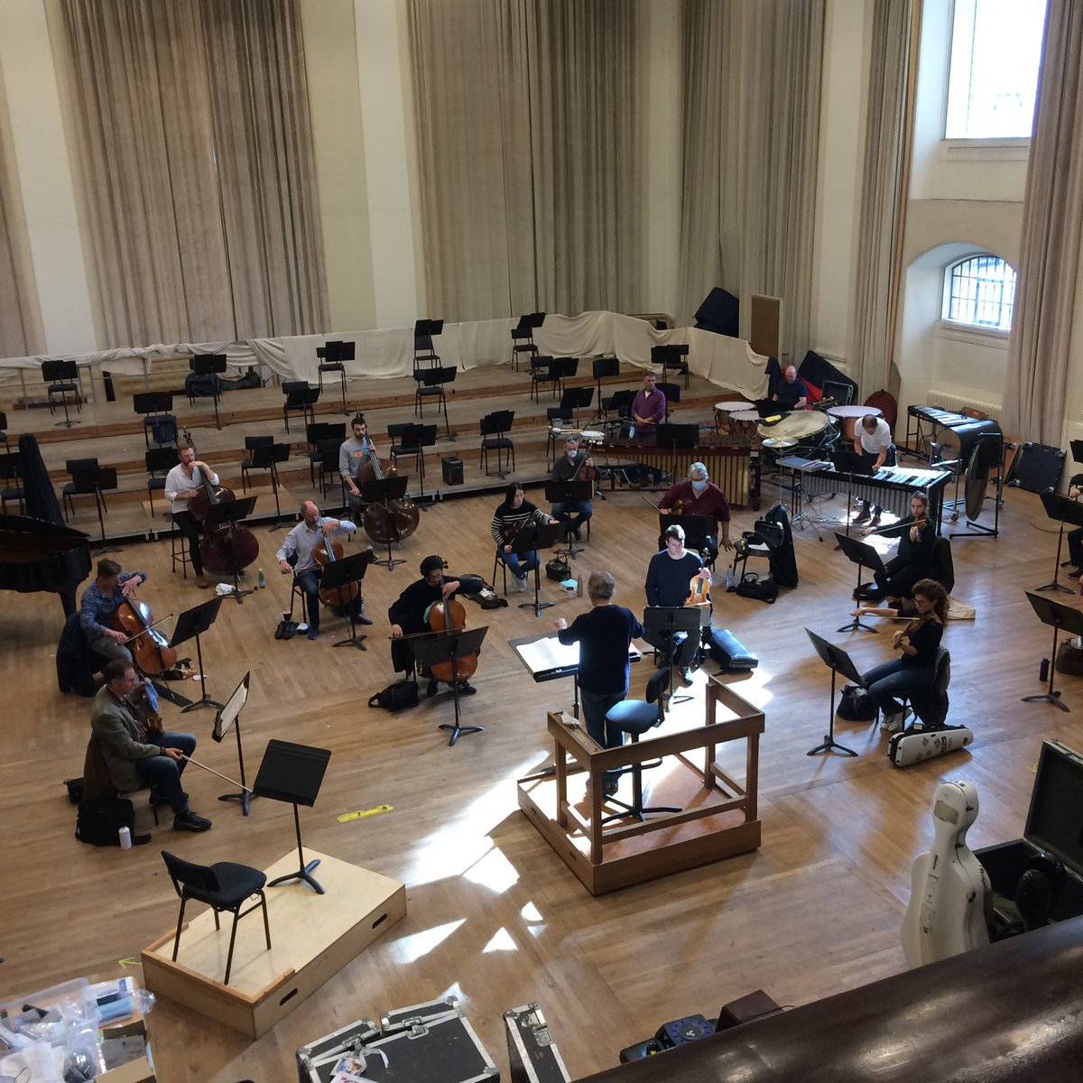 A sneak peek into rehearsals at Henry Wood Hall. 📻Tune in to @BBCRadio3 tomorrow and Friday at 7.30pm for two concerts broadcast live from @southbankcentres Royal Festival Hall. #LPO2020 #InsideOutSC