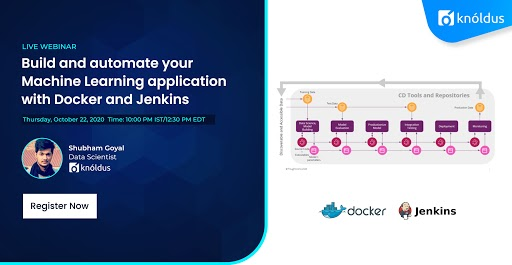 With the increased popularity of ML-based applications, automating #ml is heavily required to deliver such applications sustainably. Join our upcoming webinar learn how to build & automate your ML application with #Docker and #Jenkins. Register now: https://t.co/5doInwvhbp https://t.co/VjzLMhVsPm