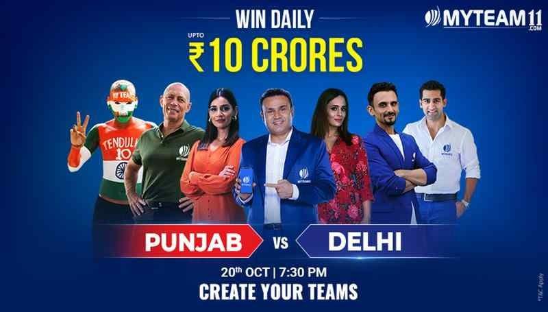 It's Punjab vs Delhi & I have chosen my captain and vice captain on https://t.co/E9ltq12F1y! Get your team now & Win Big! #IndiaKiApniFantasyApp #MyTeam11 https://t.co/zD9uu9fEdn