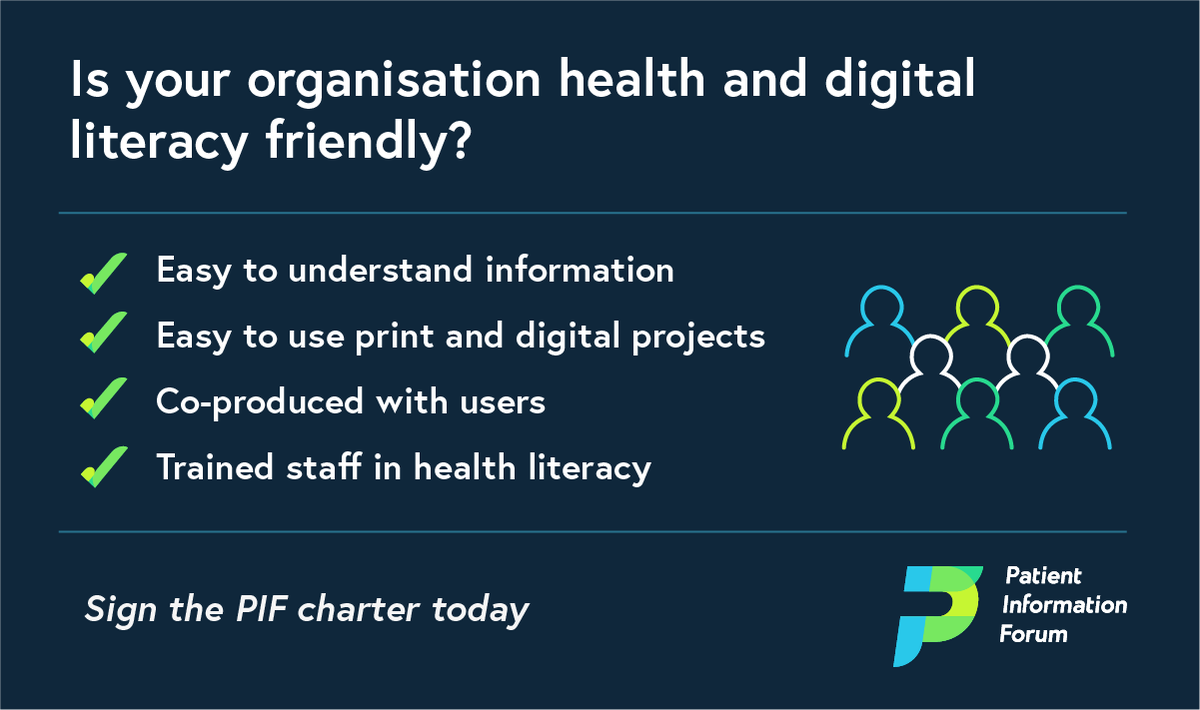 This #HealthLiteracyMonth we are encouraging all #HealthInformation providers to sign our Health and Digital Literacy Charter. Join more than 20 organisations which have already signed the charter today: https://t.co/o8KzX98awS #HealthLiteracy #DigitalLiteracy https://t.co/EyCuJIewPH