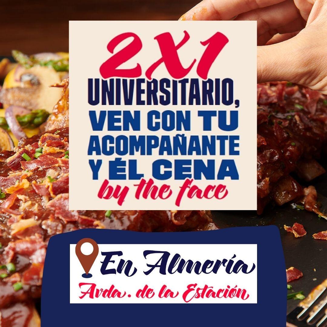 ¡Os recordamos que tenemos activo el 2x1 universitario en nuestro restaurante #Foster's Hollywood de Avenida de la Estación (#Almería)!😍😍😍 Trae a un acompañante y ¡¡él cena by the face!!  *Promoción válida de domingo a jueves en Avenida de la #Estación https://t.co/ewadL7hSs3