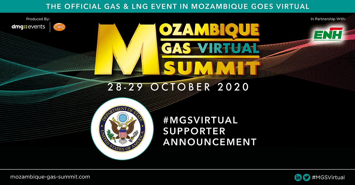 The #MGSVirtual with Empresa Nacional de Hidrocarbonetos EP (#ENH) is proud to announce the U.S. Department of State as a #Supporter.  To find out more visit: https://t.co/Wj8nQLnbCD  #AfricaEnergySeries #WorldLNGSeries #Mozambique https://t.co/9wVQgf9R6i