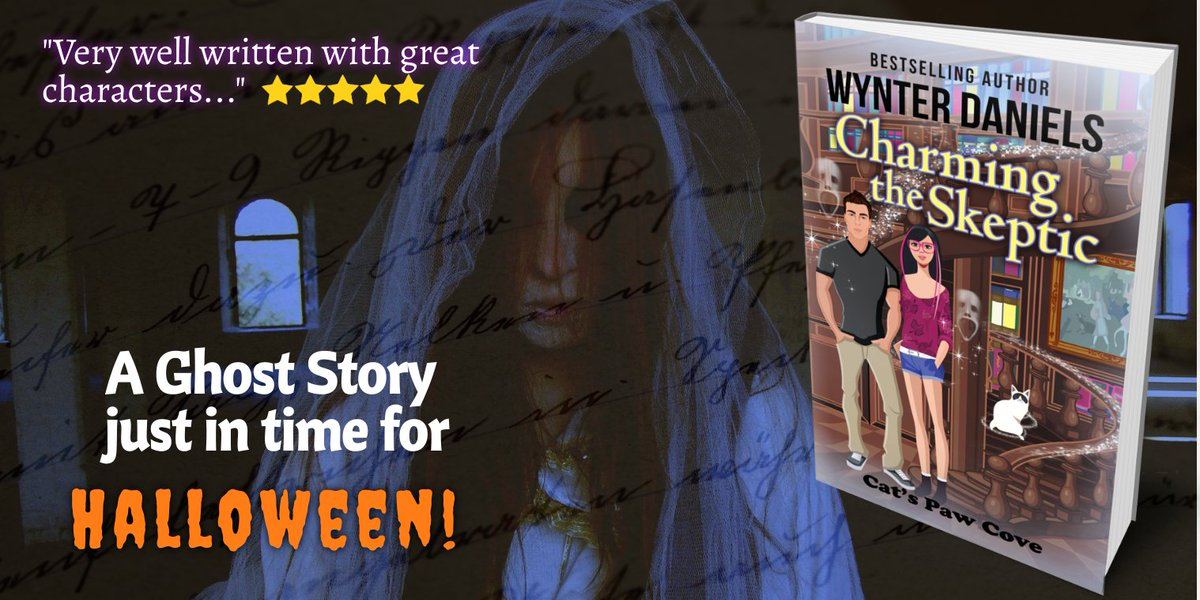 Charming the Skeptic – a Cat's Paw Cove ghost story just in time for Halloween! Preorder today - Amazon: https://t.co/OP1GhZQ0K1  #KU #CatsPawCoveRomance #ghoststory https://t.co/buIXCzKgkF