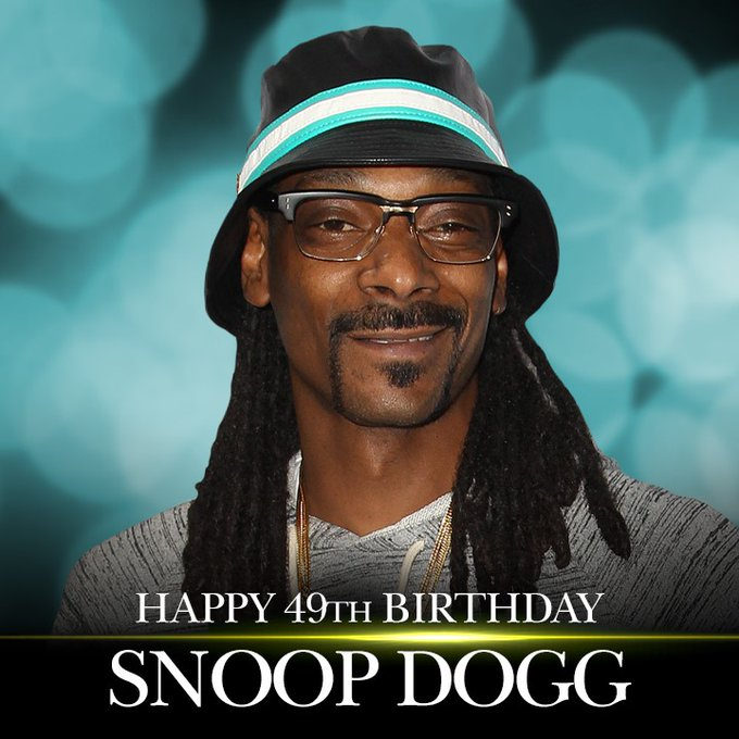HAPPY BIRTHDAY! A very happy 49th birthday to the one and only Snoop Dogg.