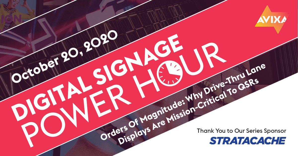 #AVfoodies check out this webinar today at 1PM EST on #digitalsignage and the quick service restaurant during this season.