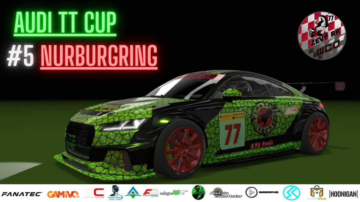 New RACE👀  Assetto Corsa🏆Audi TT Cup🏆Carrera#5🏁Nurburgring GP🏁  Torneo realizado por los amigos de @WhateverSocv ‼️ #Zevi_RR @sme_rt @WoogieRetweets @CCG_RTs @MPG_net #AssettoCorsa #Simracing #Audi #AudiTT #TwitchAffilate #gamers #TwitchTVGaming   👉https://t.co/RenfRXe8uB👈 https://t.co/NnMmnd7ORb