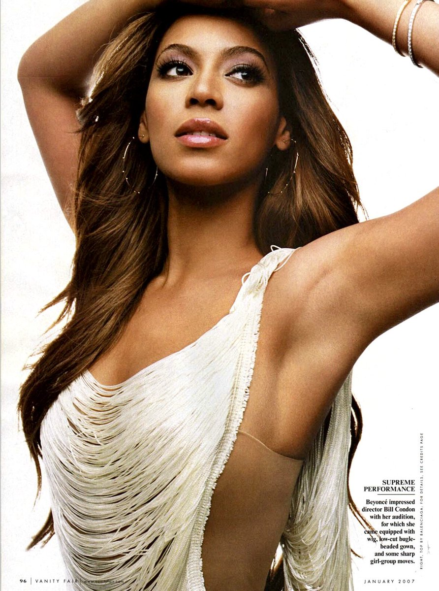 Beyoncé photographed by Mark Seliger for Vanity Fair (January 2007)