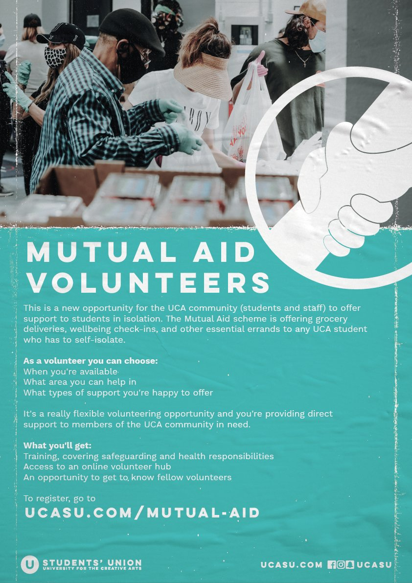test Twitter Media - This is your opportunity to directly help out UCA students in isolation, who need our support.  We need people who can: Deliver groceries Do wellbeing check-in calls Do other essential errands Flexible hours & locations  Register online at: https://t.co/41GYibOZjS https://t.co/DMrDKIUS0E