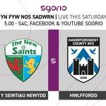 Image for the Tweet beginning: Yn fyw nos Sadwrn ar