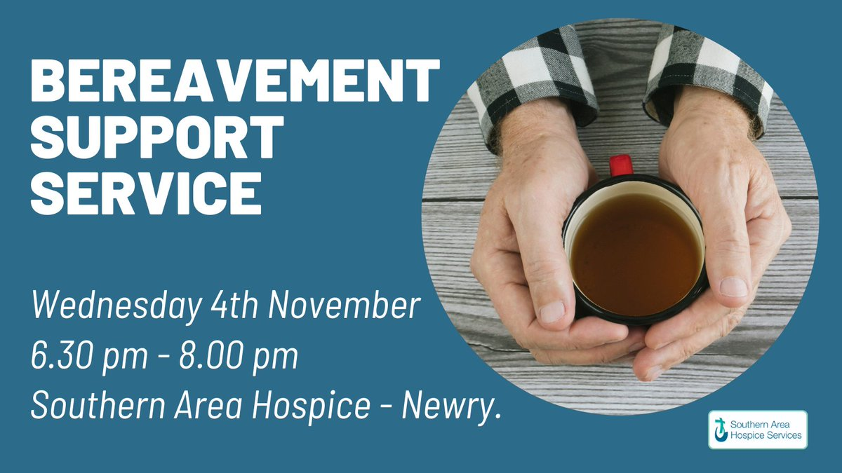 Do you feel you might need some support in dealing with losing someone?  Come along to our Bereavement Support Session Wednesday 4th Nov 6.30pm.   Book your place today with Fiona on 3026 7711.  https://t.co/MkblpIeHVs #sahs #bereavementsupport https://t.co/01XNDSS8Ng