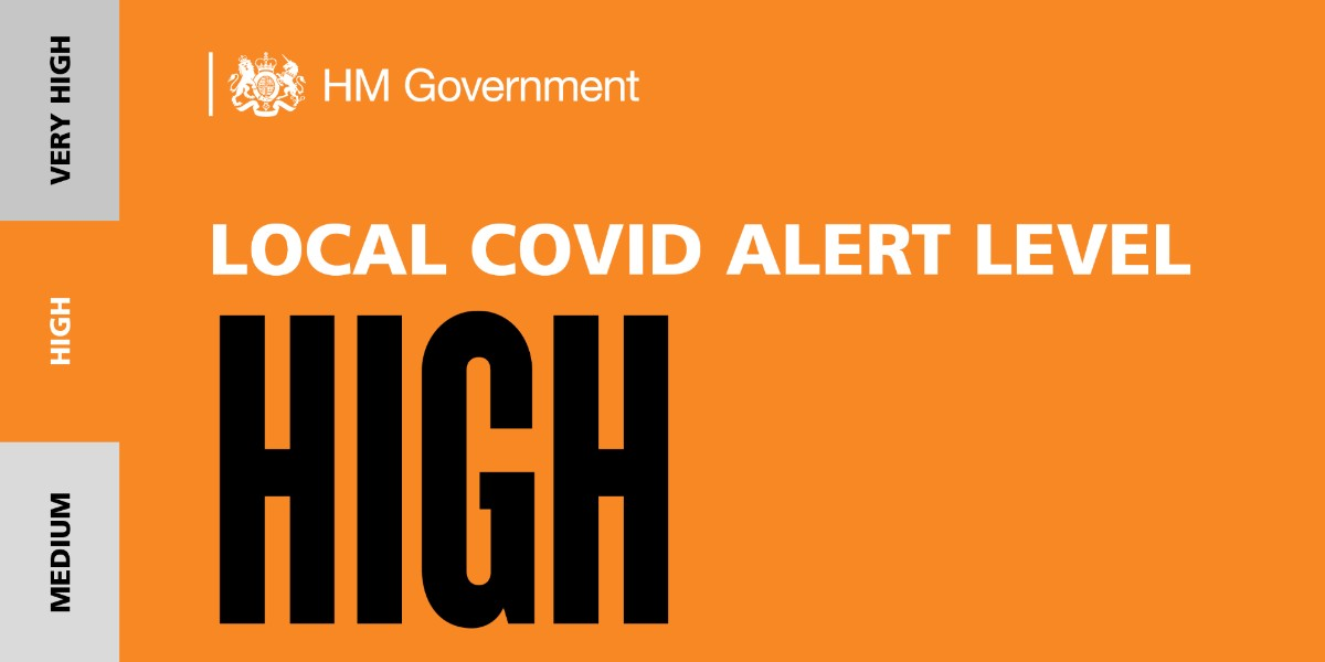 The London Local Covid Alert Level has moved from Medium to High, this means no mixing of households indoors.  Read more about the government restrictions here >>  https://t.co/T3BVaeuk0X https://t.co/K1rgKPBcBu