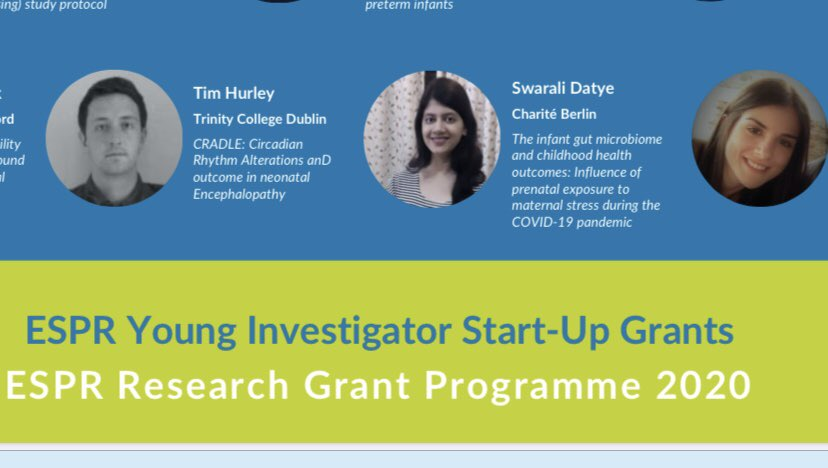 Delighted to hear of our NEPTuNE scholar Tim Hurley's achievement at receiving a young investigators award from ESPR @hrbireland @tcddublin @nuigalway @infantcentre @chelo_delr @Fiona_Quirke_ @IrishNeonatal #mumsmatter #everybabycounts #neonatal