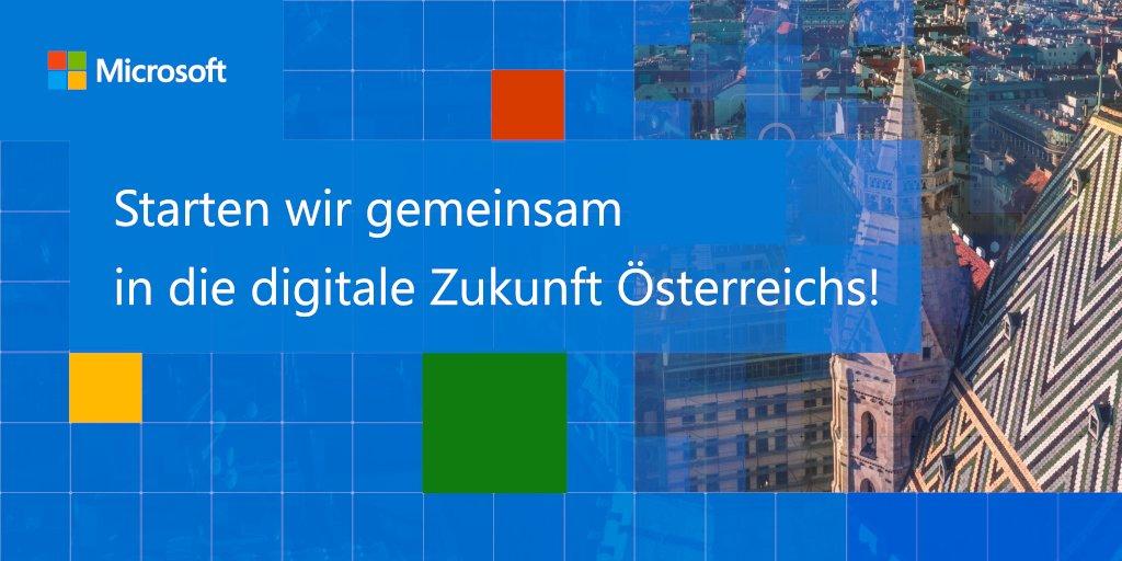 Microsoft investiert in die Wettbewerbsfähigkeit von Österreich. Durch unsere Skilling-Initiative werden bis 2024 bis zu 120.000 Österreicherinnen und Österreicher für die Anforderungen der Zukunft qualifiziert. #DigitalFutureAustria. https://t.co/MSPtmk5ncD https://t.co/pleYevE7Dd