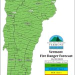 Image for the Tweet beginning: Forecasted fire danger for Tuesday