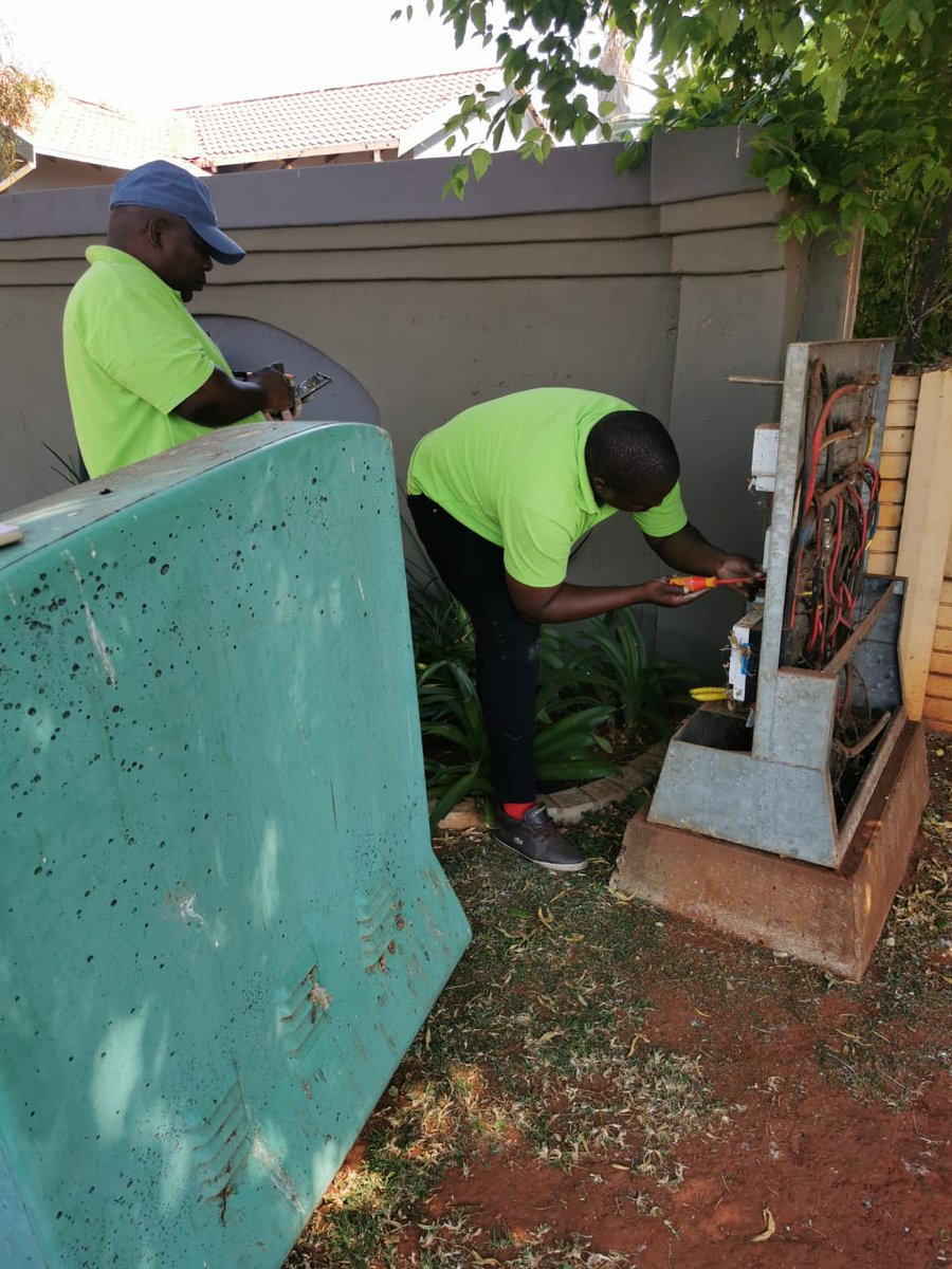 ✖️Illegal power connections   Today the Anticable Theft unit has issued close to 80 fines to residents in Mayberry Park, Alberton who have  tampered with their meter boxes. https://t.co/ILaRUWCPhr