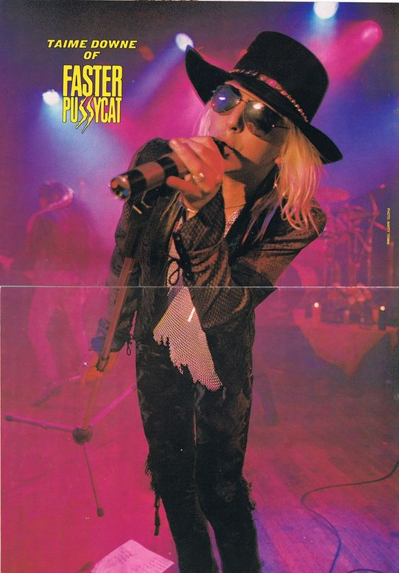 Taime Downe of Faster Pussycat. TRIVIA: Downe was a well-known singer of the Sunset Strip, but he's a Seattle native who knew various grunge scenesters when he was in high school, including Layne Staley of Alice in Chains. #80s #hairmetal #classicrock #sleazerock #90s #glamrock https://t.co/00laHYmiCv