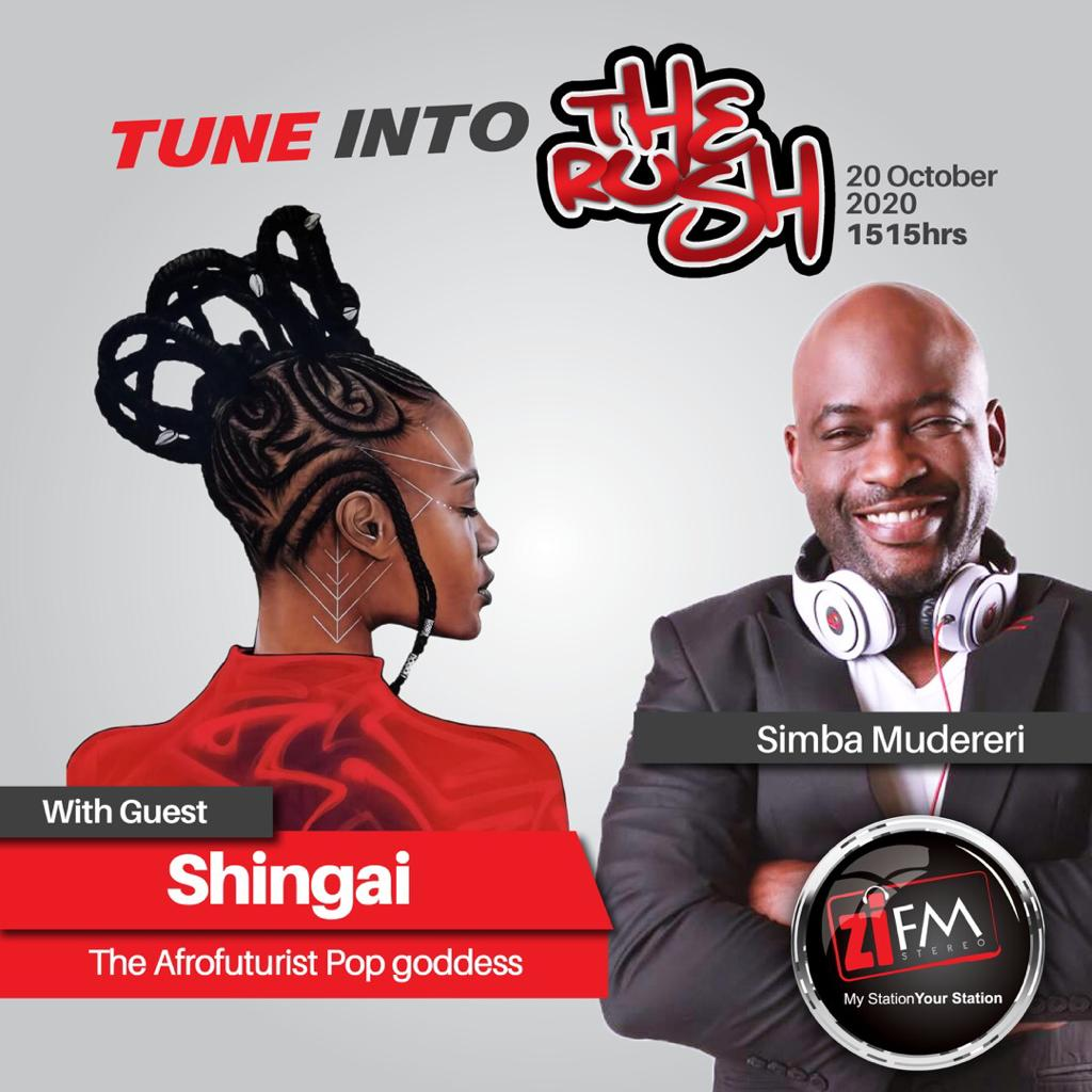 Tune into #TheRush with @SimbaMudereri as he chats to @ShingaiMusic, platinum-selling @noisettes frontwoman, and bassist on her debut solo album release on her own label Zimtron. https://t.co/XMugMtd323
